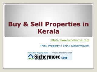 Buy & Sell Properties in Kerala - Sichermove