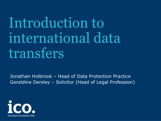 Introduction to international data transfers