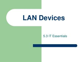 LAN Devices
