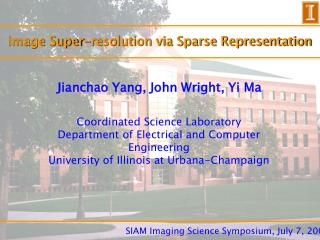 Image Super-resolution via Sparse Representation