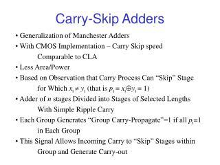 Carry-Skip Adders