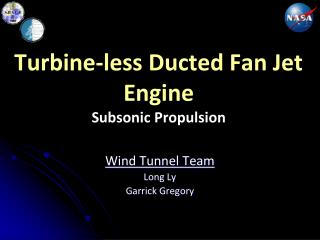 Turbine-less Ducted Fan Jet Engine Subsonic Propulsion