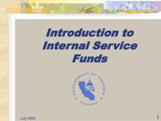 Introduction to Internal Service Funds