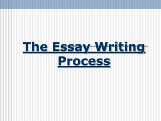 The Essay: Writing the Concluding Paragraph