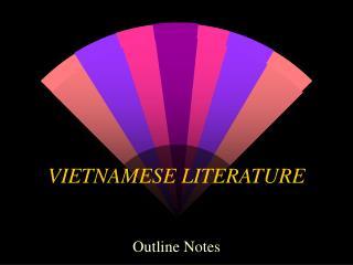 VIETNAMESE LITERATURE