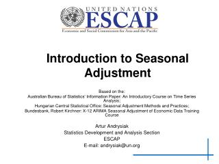 Introduction to Seasonal Adjustment
