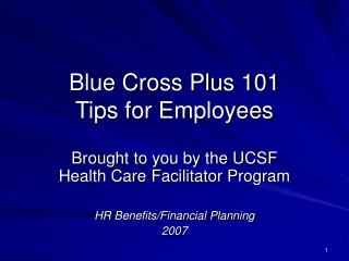 Blue Cross Plus 101 Tips for Employees