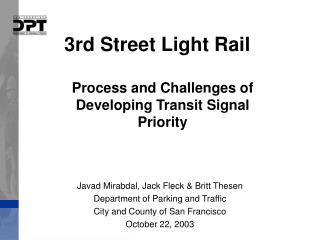 3rd Street Light Rail