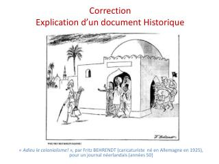 Correction  Explication d'un document Historique