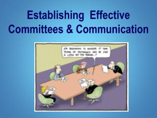Establishing  Effective  Committees & Communication