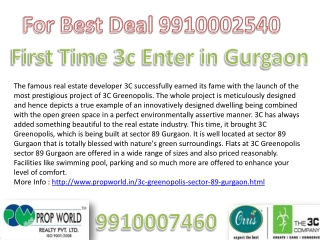 Greenopols Gurgaon 3c Greenopols 9910002540/7460 3c Greenopo