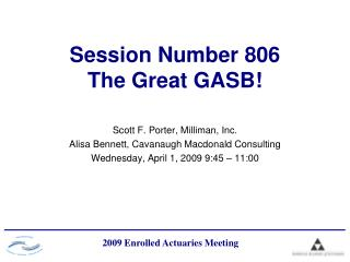 Session Number 806 The Great GASB