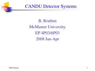 CANDU Detector Systems
