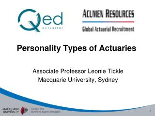 Personality Types of Actuaries