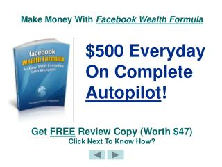 Facebook Wealth Formula - Powerful Make Money With Facebook