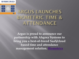 Biometrics, risk management, time & attendance | Argus Global