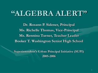 """ALGEBRA ALERT"""
