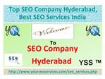 SEO Company Hyderabad, India