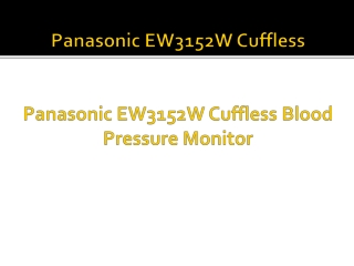 Panasonic EW3152W Cuffless
