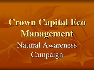 Crown Capital Eco Management - Whole Fraud: Exposing