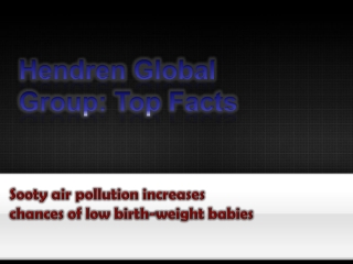 Sooty air pollution increases chances of low birth-weight ba
