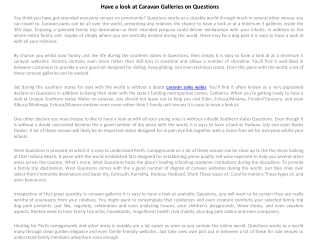 Have a look at Caravan Galleries on Questions