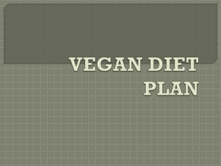 Vegan diet plan