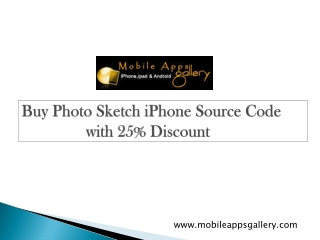 Buy Photo Sketch iPhone Source Code with 25% Discount