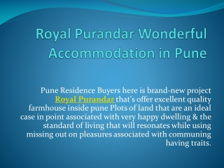Royal Purandar Available In Affordable Price