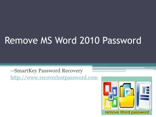 How to Remove Microsoft Word Password