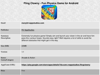 Fling Clowny - Fun Physics Game for Android