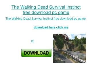 the Walking Dead Survival Instinct free download full versio