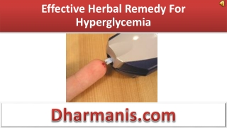 Effective Herbal Remedy For Hyperglycemia