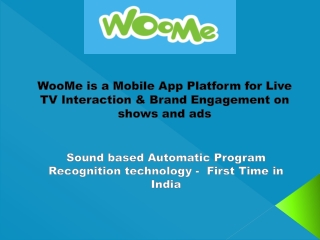 WooMe - Live TV interaction App Platform