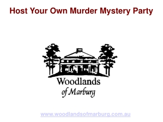 Host Your Own Murder Mystery Party