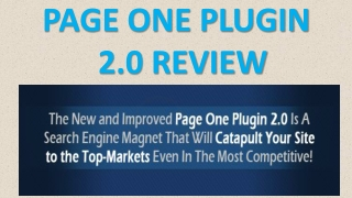 Page One Plugin 2.0 Best Review