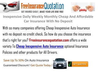 Inexpensive Daily Weekly Monthly Cheap And Affordable Car