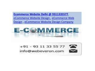 Ecommerce Website Delhi