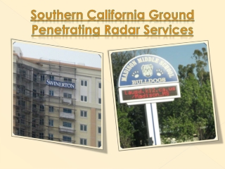 Southern California Ground Penetrating Radar Services