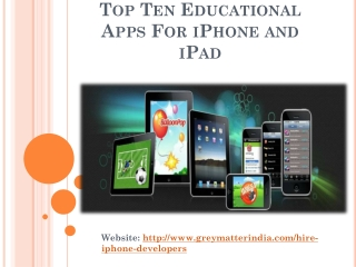 Amazing Top 10 Educational Application for Your Smart iPhone