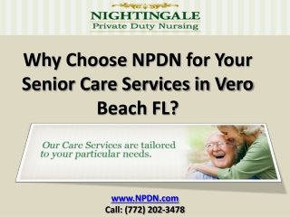 Why Choose NPDN for Your Senior Care Services in Vero Beach