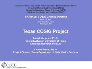 Substance Abuse and Mental Health Services Administration (SAMHSA) Center for Mental Health Services (CMHS) Center for S