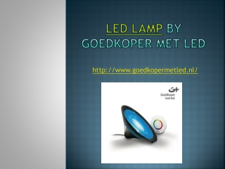 Led Lamp by Goedkoper Met Led