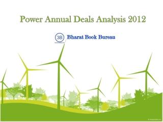 Power Annual Deals Analysis 2012