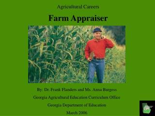 Agricultural Careers Farm Appraiser