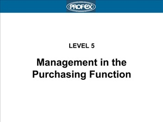 LEVEL 5  Management in the Purchasing Function