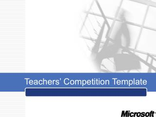 Teachers' Competition Template