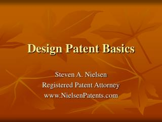 Design Patent Basics