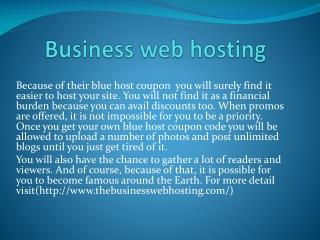 thebusinesswebhosting