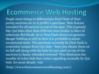 theecommercewebhosting